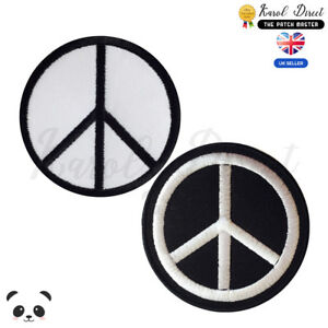 Peace-Symbol-Embroidered-Iron-On-Sew-On-Patch-Badge-For-Clothes-etc