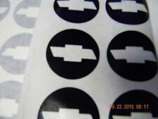 "SET OF 5  BLACK  CHEVROLET BOWTIE WHEEL/ RIM VINYL CENTER CAP LOGO DECALS 2.95"""