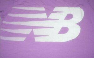 New-Balance-Womens-Running-T-Shirt-Fast-amp-Large-NB-LOGO-Purple-XL