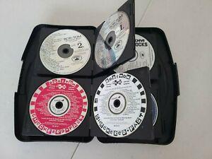 Bob & Tom CDs Lot Of 24 CDs & Hard Storage Case Radio Comedy WFBQ HUGE LOT