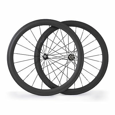 700C 50mm Clincher Carbon Wheels Carbon Road Bike Bicycle Cycling Touring Wheels