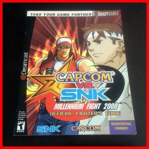Dreamcast 🕹️ CAPCOM vs SNK Millennium 2000 📰 Official Fighter Guide BRADY SEGA