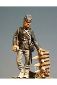 Union-Soldier-at-American-Civil-War-54mm-1-32-Tin-Painted-Toy-Soldier-Art
