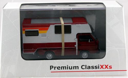VW T3a Pritsche Tischer Camping Wohnwagen 1:43 Premium Classixxs Modellauto 527