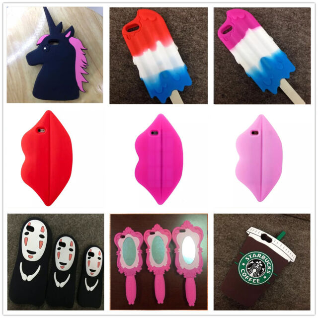 3D Cartoon Character Silicone Rubber Case Cover For Apple iPhone5/5s 6/6s Plus