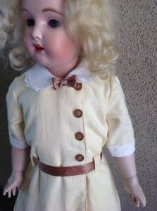 """Lemoncello Doll Dress.  Vintage Copy For Daisy Elmira & Other 18 To 20"""" Dolls."""