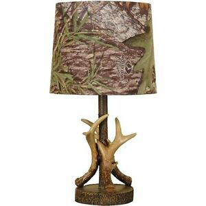 Details about Mossy Oak Deer Antler Accent Lamp Light Camouflage Home Decor  Bedroom Gift