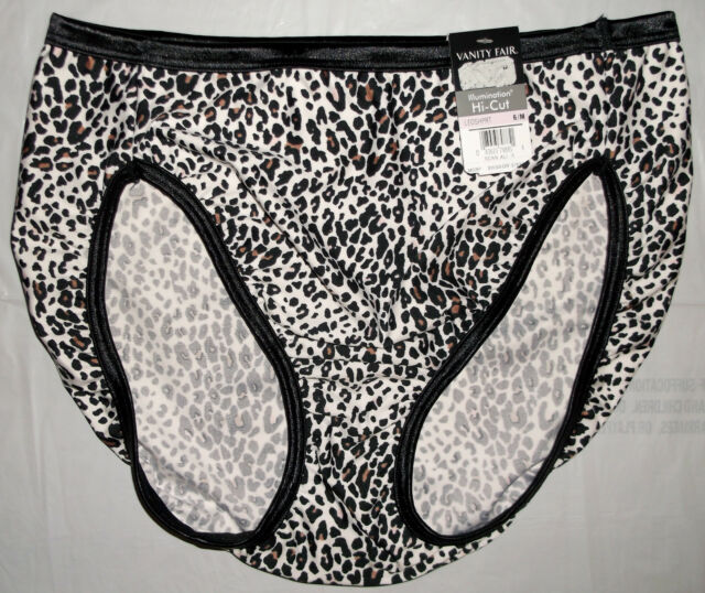 51e3c2151 Vanity Fair 13108 Illumination Hi-cut Brief Panty 5 Leopard Shimmy Print
