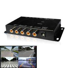 Quad Way 360 Degree Parking View 4 Cameras Video Image Split-Screen Control Box