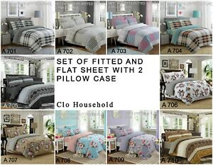 100-Cotton-4-Pcs-Sheet-Set-Fitted-And-Flat-Sheet-2-Pillow-Cases