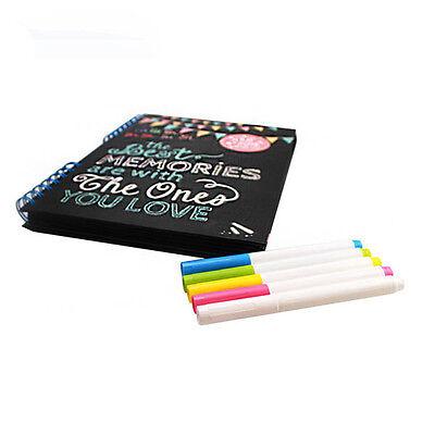 7Colors Neon Liquid Chalk Fluorescen Marker Pen Board Glass Sign Wet Wipe