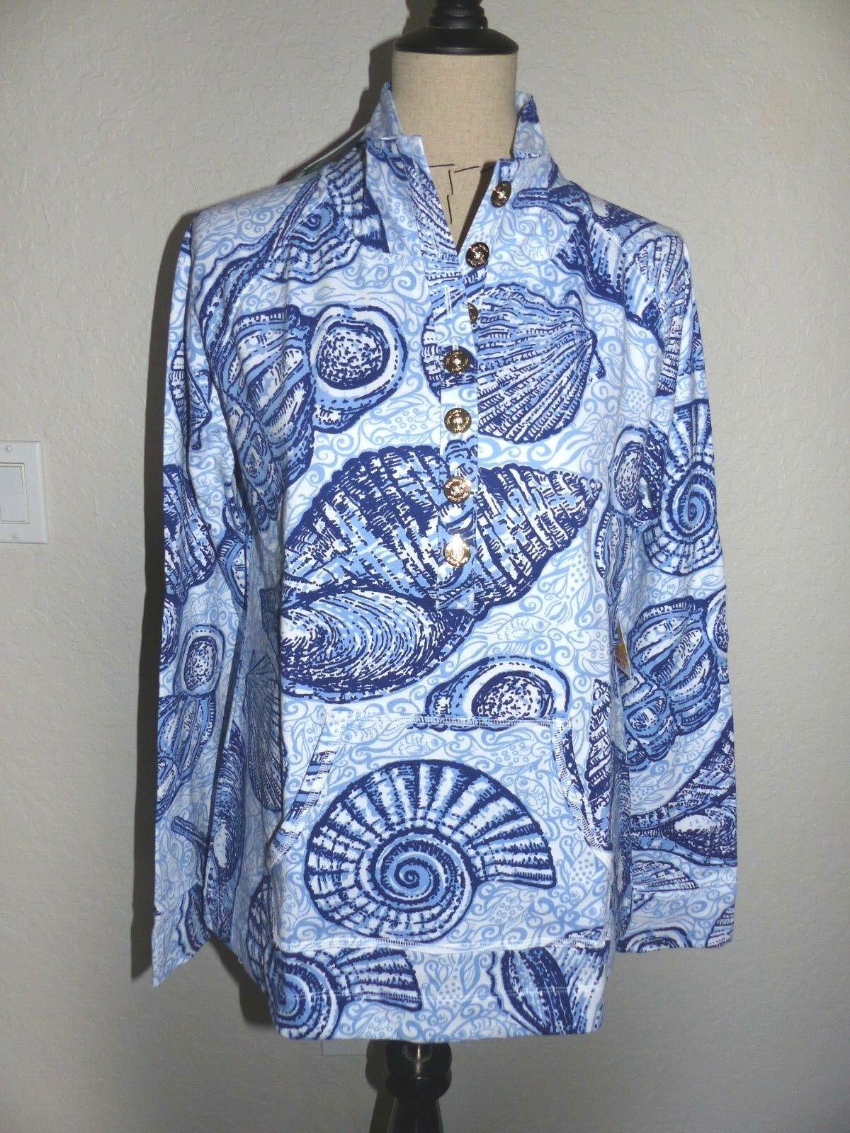 Parte  súperior suéter LILLY PULITZER capitán popover del Peluche conchas Tamaño X Pequeño nuevos con etiquetas  ofrecemos varias marcas famosas