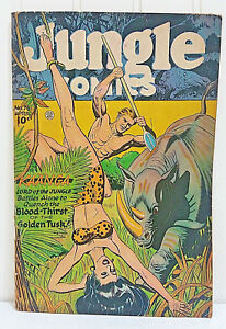 JUNGLE-COMICS-76-Kaanga-Battles-Alone-The-Blood-Thirsty-Golden-Tusk-April-1946