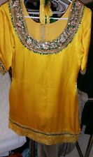 Desi, Indian, Pakistani gharara suit fancy, mehndi, mayon womens medium to large