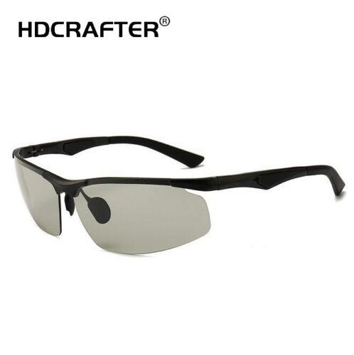 Men/'s Aluminum Polarized Photochromic Sunglasses Outdoor Driving UV400 Glasses