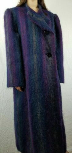 Vintage 1980s - PAULINE TRIGERE Purple/Blue Moha… - image 1