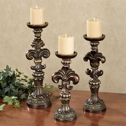Antonia Candleholders Bronze gold Set of Three