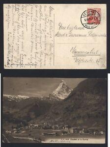 AK-Zermatt-1911-Matterhorn-Alpen-Stempel-Viege-Bezirk-Visp-Kanton-Wallis
