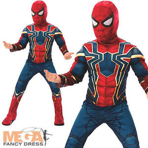 éNergique Deluxe Iron Spider-man Boys Fancy Dress Infinity Guerre De Super-héros Book Kids Costume-afficher Le Titre D'origine