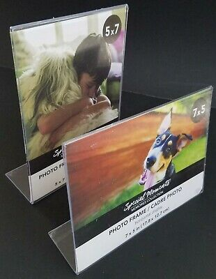10x8,Select Type Freestanding Borderless Plastic Photo L-Frames 8x10