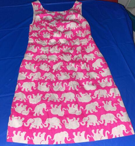 Lily Pulitzer Pink Dress White Elephants Size 00