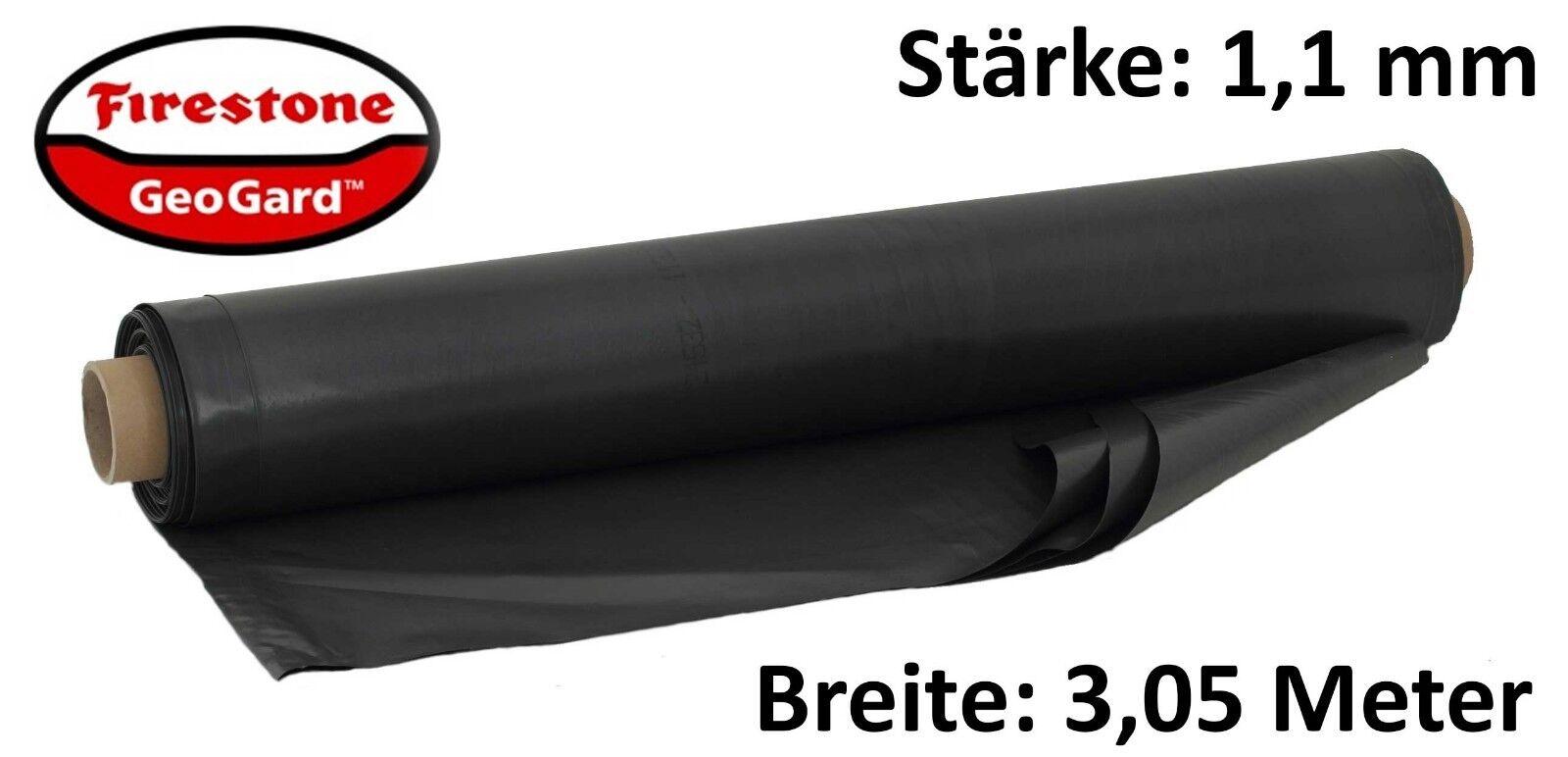m² EPDM Teichfolie Firestone GeoGard 13 x 3,05 m Kautschuk Folie 1,1mm