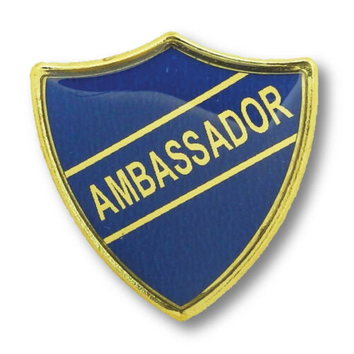 Yellow Orange Ambassador Shield School Badges Red Green Blue