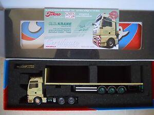 Tekno 63442 Man Tgx 33.480 Tracteur 6x4 Semi Plateau 3 Axes   Tekno 63442 Man Tgx 33.480 Tracteur 6x4 Semi Plateau 3 Axes