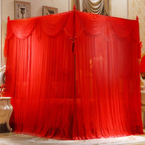 Wedding-mosquito-nets-Mosquito-net-amp-frame-Summer-bed-netting-Bed-curtain-canopy