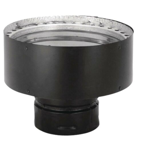 PelletVent 3in x 6in Double-Wall Chimney Pipe Adapter Insert Vent Pellet Stove