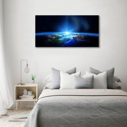 Glas-Bild Wandbilder Druck auf Glas 140x70 Weltall /& Science-Fiction Planet Erde