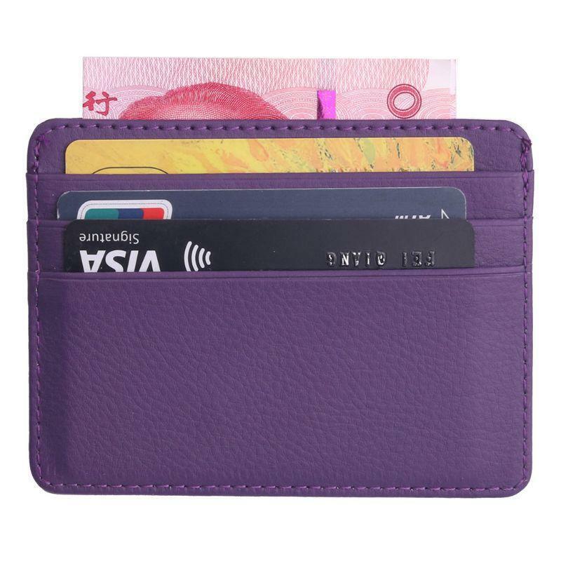 Men's Leather Thin Wallet ID Money Credit Card Slim Holder Money Pocket