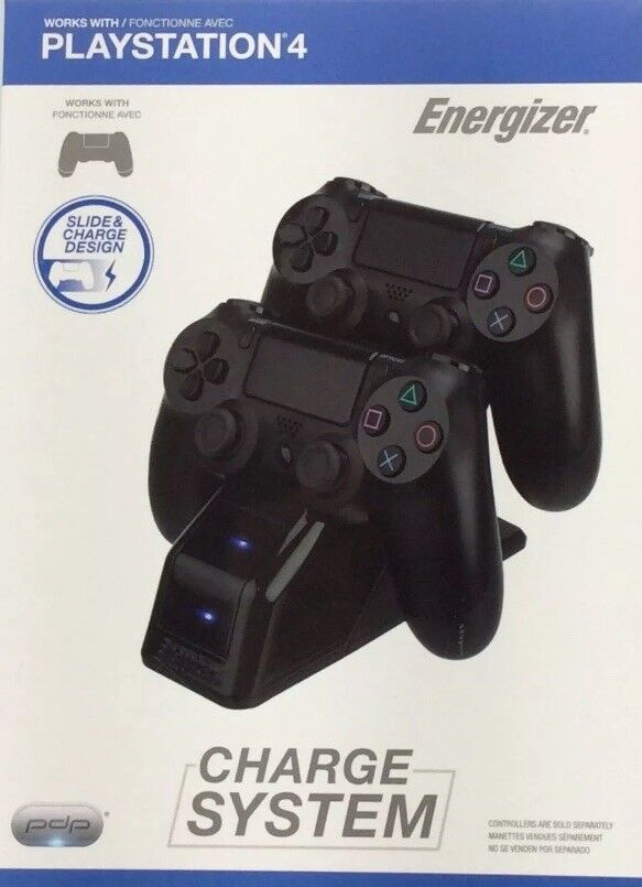 PLAYSTATION 4 - ENERGIZER CHARGE SYSTEM (controllers sold separately) NEW SEALED