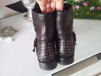 Salamander echt Leder Schuhe Stifelette Gr 3,5 36,5