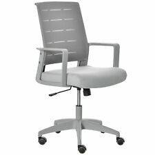 Mesh Home Office Chair Swivel Desk Task Pc Chair With Lumbar Back Support Grey
