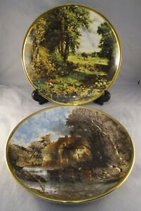 Vintage-Lord-Nelson-Collectors-Plates-John-Constable-Paintings-England-1978