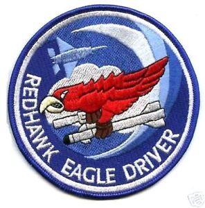 USAF Oregon Air National Guard RED HAWK F-15 123d FS SQN iron-on PATCH