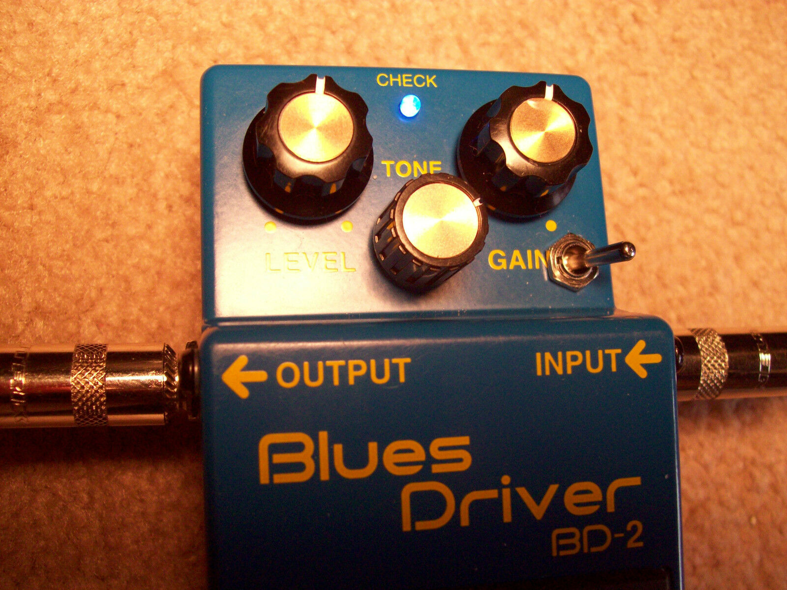 Modified Boss BD-2  from Modest Mike's Mods- Great for guitar and bass also