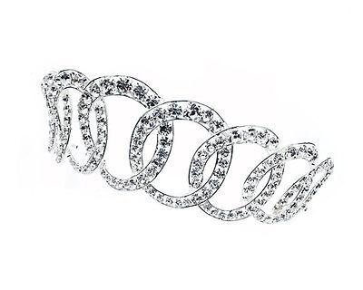 Rhinestone Crystal Gem Gemstone Silver Velvet Men/'s Crown for Regal King Royalty