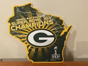 Rico Industries NFL Green Bay Packers SUPER BOWL XLV CHAMPIONS Wisconsin Shaped
