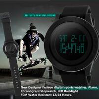 Skmei Waterproof Mens Digital Watch Military Quartz Analog LED Sport Wristwatch