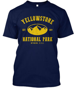 Machine-washable-Yellowstone-National-Park-Est-1872-Hanes-Tagless-Tee-T-Shirt
