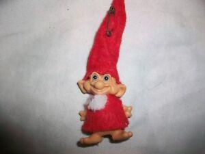Vintage-Santa-Claus-Reisler-Troll-Pencil-Topper-Top-Doll-Toy-Blue-Eyes-Elf