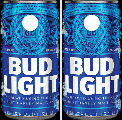 Bud Light Cornhole Wraps Full Can Board Decals Bag Toss Game Stickers