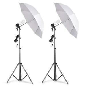 Photography Umbrella Lighting Kit - Photo Portrait Continuous Reflector Lights for Camera Video Studio Shooting Canada Preview