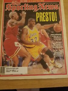 FEBRUARY 12, 1995 THE SPORTING NEWS- MAGIC LAKERS VS BULLS