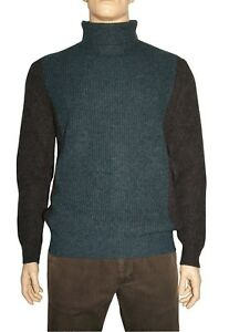 Loro-Piana-Turtleneck-Fortrose-Bicoloured-Blue-Cashmere-XL-Made-in-Italy-off-50