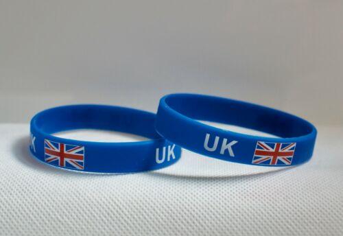 UK Flag Union Jack Temporary Tattoo silicon wrist band Body Tattoos sticker