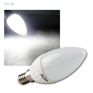 led kerzen lampe e14 kaltwei 420lm leuchtmittel birne e 14 230v gl hbirne ebay. Black Bedroom Furniture Sets. Home Design Ideas