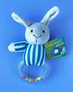 Goodnight-Moon-Bunny-Rabbit-Rattle-Ring-Baby-Toy-Plush-New-with-Tag